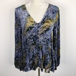 Sundance Velvet Riches Blouse Burnout Button Down